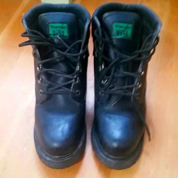 Wrangler Black Work Boots